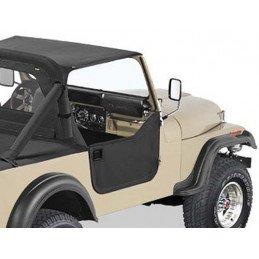 kit demi-portes toile BESTOP - Noir - Jeep CJ 1976-1986 - Wrangler YJ 1981-1995 // 53038-01