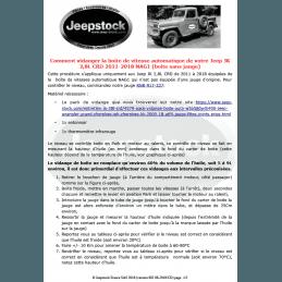 Document Comment vidanger la boite de vitesse automatique de votre Jeep JK 2,8L CRD 2011-2018 NAG1 (boite sans jauge)