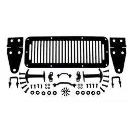 Kit Calandre, Charnières, Attaches Capot + accessoires - NOIR - Jeep Wrangler YJ 87-95 / CJ 78-86 // RT26007
