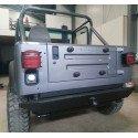 Grilles (X2) de Protection de feux Arrière - Titanium - Jeep Wrangler TJ 97-06 / YJ 87-95 / CJ-7 & CJ-8 76-86 // RT34098