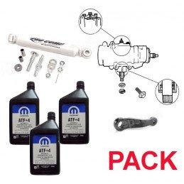 Pack Boitier de direction assistée + Bras Pitman (bielle) + Amortisseurs + 3L ATF+4 - Jeep Wrangler TJ 03-06 //PackDA-A-TJ-03-06