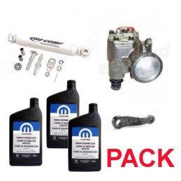 Pack Boitier de direction assistée + Bras Pitman + Amortisseur + 3L Liquide MS-5931 - Jeep Wrangler TJ 97-02 //PackDA-A-TJ97-02