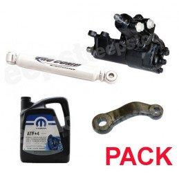 Pack Boitier de direction assistée + Bras Pitman + Amortisseurs + 5L ATF+4 - Jeep Wrangler JK 07-11- 2 Portes // Pack-DA-A-JK-2P