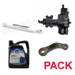 Pack Boitier de direction assistée + Bras Pitman + Amortisseur + 5L ATF+4 - Jeep Wrangler JK 07-11- 4 Portes // Pack-DA-A-JK-4P