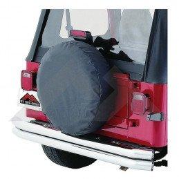 Housse de roue de secours NOIRE - taille de 27 à 29 pouces  (entre 68 et 75 cm) - Jeep Wrangler YJ, TJ & CJ -- TC272901