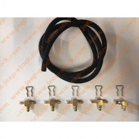 Kit réparation faisceau tuyau de retour gasoil - Jeep 4 ou 5 cylindres 2.5L 2.7L 2.8L CRD 2002-2011 // KITRTGL