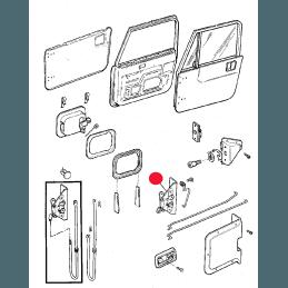 Mécanisme de fermeture Porte Gauche (conducteur)- OCCASION - Jeep Wrangler YJ 1987-1990 // J5758177-OCC