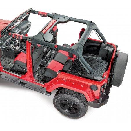 301- Kit Tapis de sol caoutchouc 5 pièces - Jeep Wrangler JK 2011-2013 - 4 portes - SANS caisson de basses // 14254.0326