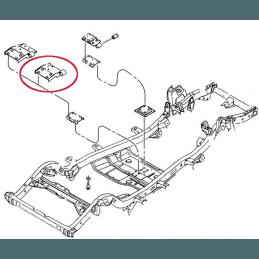 Silent-bloc boite AR - Jeep Wrangler TJ 2.4L 6 vit 2005-2006 // 52059698AA