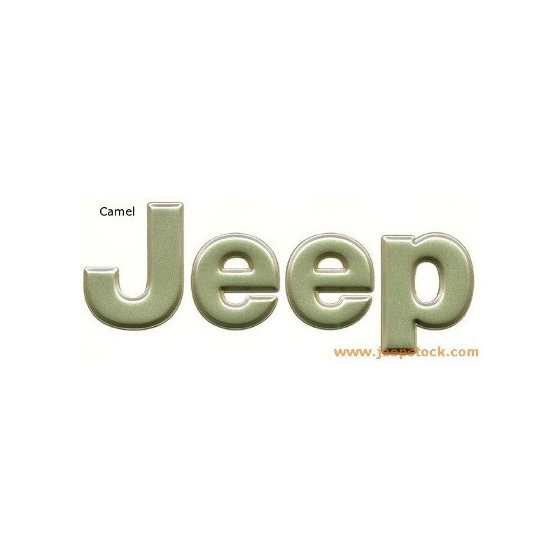 Logo JEEP - Wrangler Cherokee Grand-Cherokee - Camel // 5EM87WKK