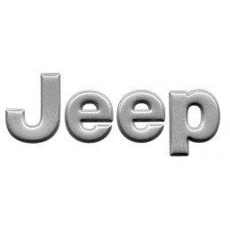 Logo capot JEEP - Gris argent - pièce origine MOPAR-JEEP // 5EM87SA1