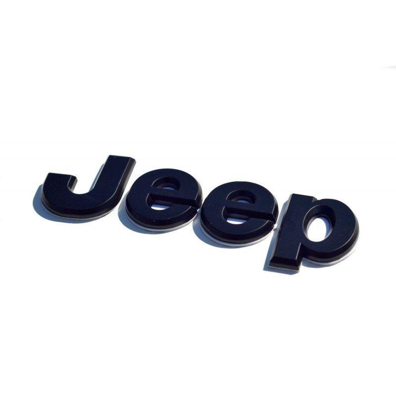 Logo latéral, aile arrière - JEEP Wrangler YJ et CJ 1976-1995 pièce d'origine dispo - Noir // 5AS15JX9