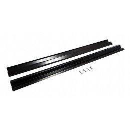 Seuil (x2) bas de porte intérieur - acier inoxydable peint en noir - Jeep Wrangler TJ 1997-2006 // RT26036