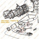 Silent-bloc échappement Jeep Cherokee KJ 02-07 2.8L / Wrangler TJ 97-06 / Grand-Cherokee WJ 03-04 2.7L // 52101035