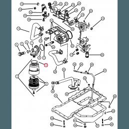 Joint entre filtre à huile et tête de support - Jeep Grand Cherokee WJ 3.1L TD VM 1999-2001 // 5015172AA
