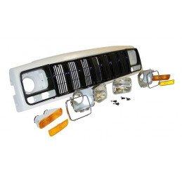 Kit Face Avant complète Noire - Calandre, Entourages, Optiques, Clignotants, Accessoires- Jeep Cherokee XJ 1997-01 //55055233AEK