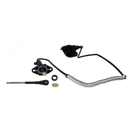 Kit Emetteur, Récepteur d'Embrayage + Flexible- Pour contacteur sécu démarrage - Jeep Wrangler TJ 2.4L, 4.0L 03-04 // 52107652AH