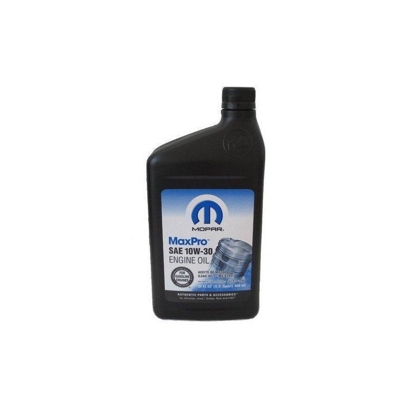huile moteur jeep essence mopar maxpro 10w30 en 1 litres norme ms 6395 lubrifiant origine. Black Bedroom Furniture Sets. Home Design Ideas