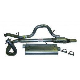 Ligne complète d'Échappement - Tube AV + Convertisseur Catalytique + Pot + Tube AR - Jeep Wrangler TJ 2.5L 1997-00 // 52018933K