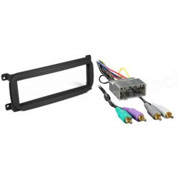Kit Adaptation support + connecteur autoradio 1 DIN Europe Jeep Cherokee KJ 2002-2004 Steréo amplifiée Infinity
