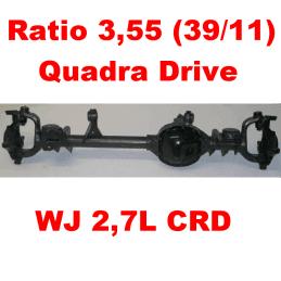 Pont avant OCCASION Jeep Grand-Cherokee WJ 2,7L CRD 2000-2004 Dana super 30 r:3.55 Quadra-drive avec huile et additif