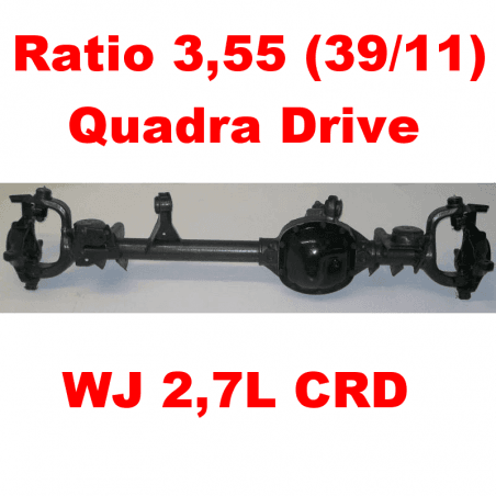 * Pont avant OCCASION Jeep Grand-Cherokee WJ 2,7L CRD 2000-2004 Dana super 30 r:3.55 Quadra-drive avec huile et additif