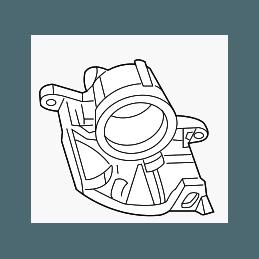 Etriers de freins Avant Droit, pour disque diam. 330mm - Jeep Wrangler JK 2007-2018 / Cherokee KK 2008-2012 // 68044863AA