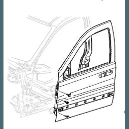 Vitre Porte Avant Gauche (côté conducteur) - Jeep Grand Cherokee WH, WK 2005-2010 // 55396963AC