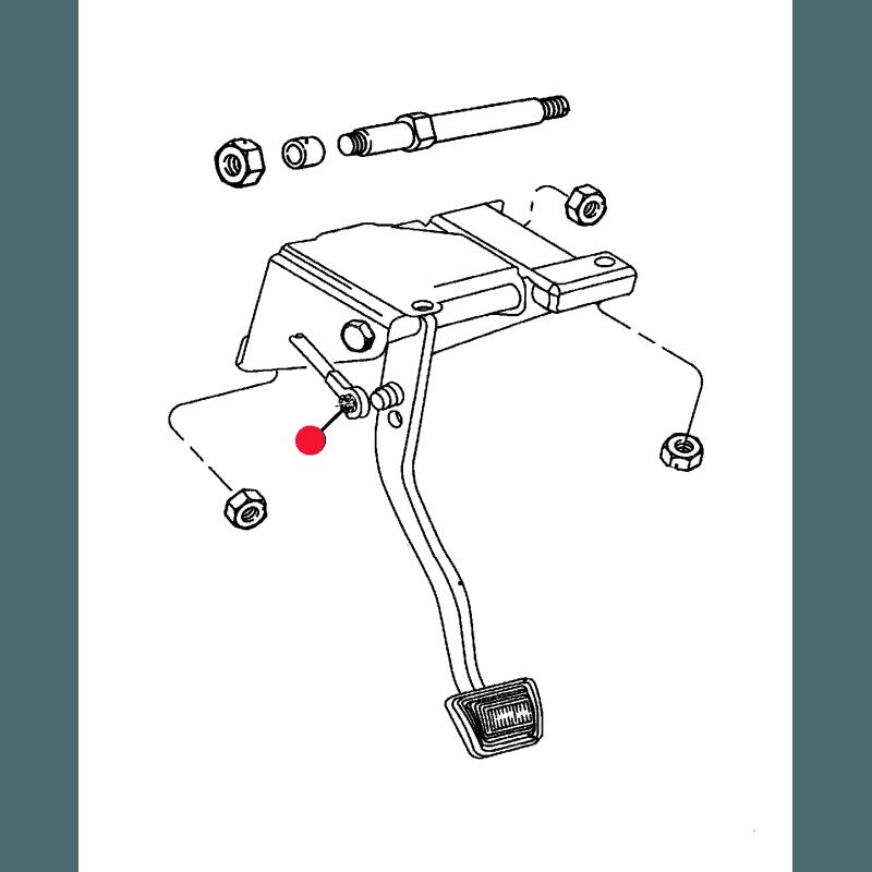 Bague de tige du servo frein ou d'émetteur d'embrayage - Jeep Wrangler TJ 2004 / Cherokee KJ 2002-2004 // 4643448
