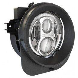 Phares Ronds à LED Chromés 7 pouces - Kit de 2 Droit + Gauche - Marque JW Speaker – Model 8700 Evolution 2R - Jeep Renegade