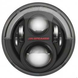 Phare Rond à LED Noirs 7 pouces JW Speaker - EUROPE - Model 8700 Evolution J2 Series - Jeep Wrangler JK // 0824.27