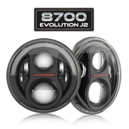 *Phare Rond à LED (X2) Noirs 7 pouces JW Speaker - EUROPE - Model 8700 Evolution J2 Series - Jeep Wrangler JK // 0824.27X2