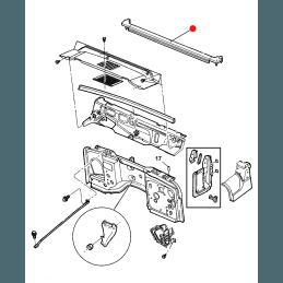Joint inférieur d'encadrement de Baie de parebrise - Jeep Wrangler TJ 1997-2006 // 55395032AI