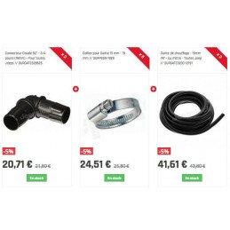 Durite de chauffage - 15mm INT - au mètre - Toutes Jeep // GATE3230-12151