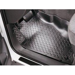 Tapis de sol Avant Noir - Jeep Wrangler JK 2007-2018, Gauche + Droite en caoutchouc, 2 ou 4 portes