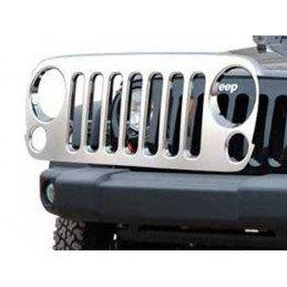 Calandre CHROME Jeep Wrangler JK 2007-2018, Enjoliveur Acier inox poli // 1514.26