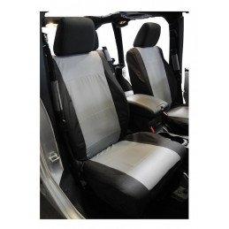 Housses de siège Avant Jeep Wrangler JK 2007-2010, bicolore Noir/Gris droit + gauche // SC30021