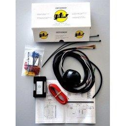 *Attelage Jeep Wrangler TJ 96 - Nov 99 Boule démontable avec outils & Faisceau universel multiplexé 7Broches + Adaptateur 7/13