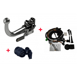 *Attelage Complet Universel TOP DELUXE Jeep Cherokee KJ 2002-2007 - Attelage RDSO + Faisceau 13 Broches + Adaptateurs 13/7