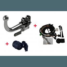 *Attelage Jeep Cherokee KL 2013-2018 - Boule démontable sans outils + Faisceau Universel Multiplexé 13 Broches + Adaptateur 13/7