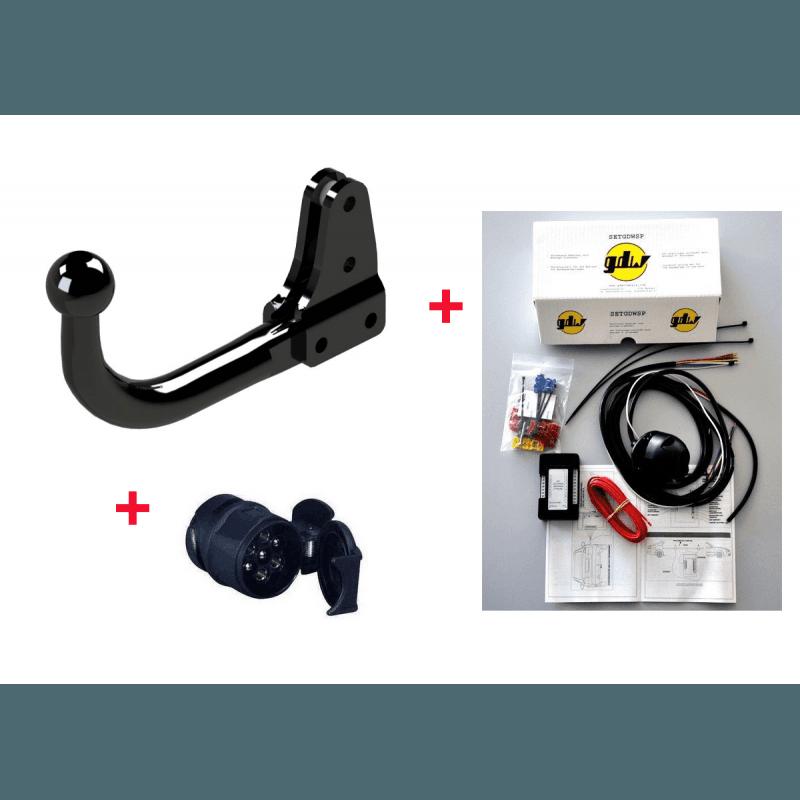 **Attelage Jeep Renegade BU 2014-2018 - Boule démontable avec outils + Faisceau Universel multiplexé 13 Broches + Adapt 13/7