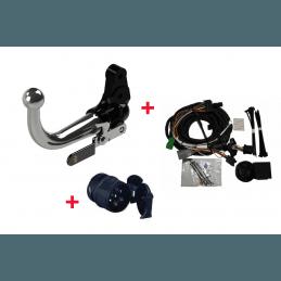 **Attelage Jeep Renegade BU 2014-2018 - Boule démontable sans outils + Faisceau Universel multiplexé 13 Broches + Adapt 13/7