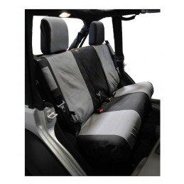 Housses de siège Arrière Jeep Wrangler JK 2007-2010 - 2 portes, bicolore Noir/Gris droit + gauche // SC30121