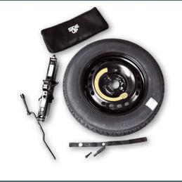 """Kit Roue de secours Jeep Renegade BU 2014-2018, cric + roue """"galette"""" 16 pouces // 71807418"""