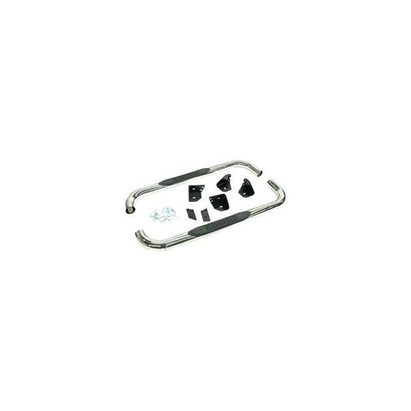 Marche-Pieds tubulaires Rampage Noir Texturé - Jeep Wrangler YJ 1987-1995 / Wrangler TJ 1997-2006 // RT26016