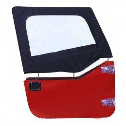 Haut de demi-porte Toile Jeep Wrangler YJ 1987-1995, 2x toiles de Demi-porte G+D , angle Rectangulaire, Noir Denim // DS10015