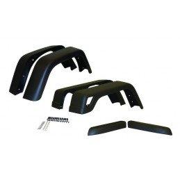 Extensions d'ailes Jeep Wrangler TJ 1997-2006, Avant/Arrière gauche/droite (6 pièces) - Taille Large // 55254918K76