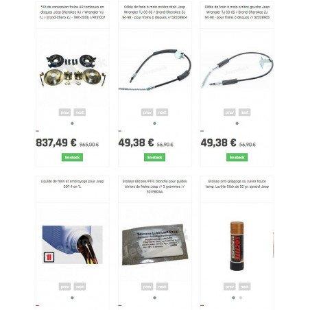 *Kit de conversion freins arrières tambours en disques Jeep Grand Cherokee ZJ 1993-98 + câbles de frein à main // RT31007-ZJ
