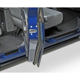 Seuil de porte Jeep Wrangler JK 2007-2018 pour 4 portes, en acier NOIR // RT26050
