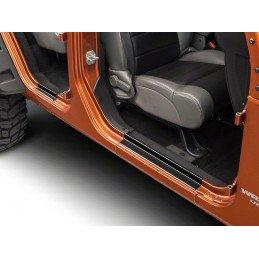 Seuil de porte Jeep Wrangler JK 2007-2018, pour 2 portes, en acier inoxydable NOIR // RT26049